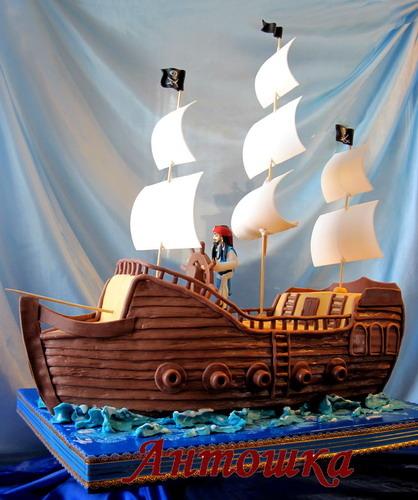 Торты корабли картинки