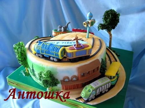 Красивый торт паровозик фото