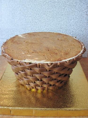 Мастика из шоколаду корзина мастика торт сделать